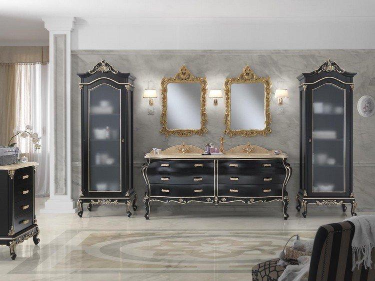 meuble salle de bain style baroque