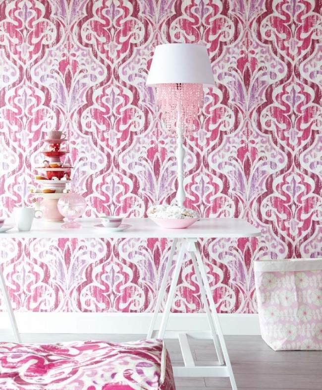 tapisserie baroque rose n15. Black Bedroom Furniture Sets. Home Design Ideas
