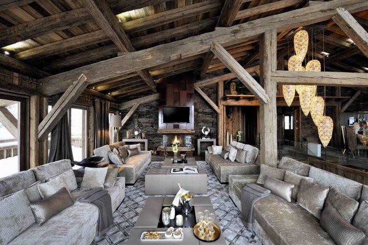 Decoration interieur bois et pierre - n15