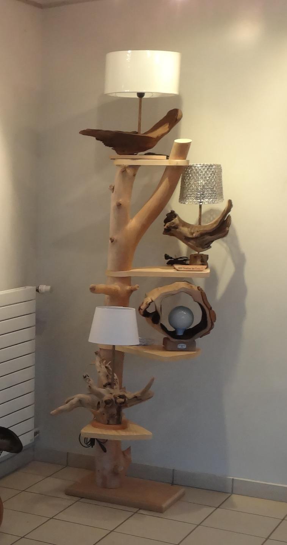 cheap etagere en bois flott with meuble tronc arbre. Black Bedroom Furniture Sets. Home Design Ideas