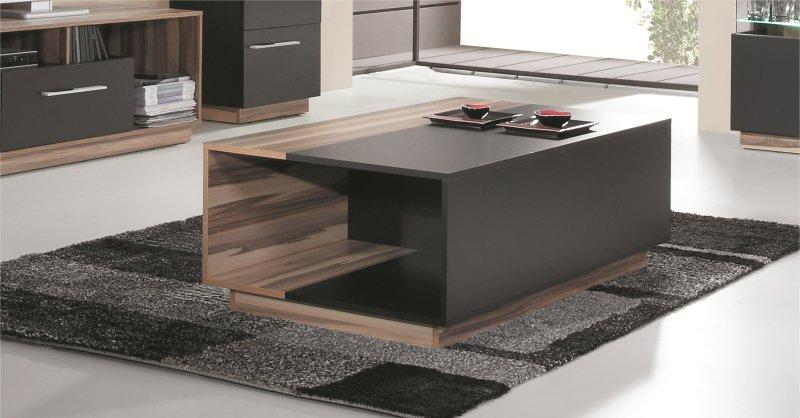 Table de salon rangement table salon bois et verre   Maisonjoffrois 6943acf41d76