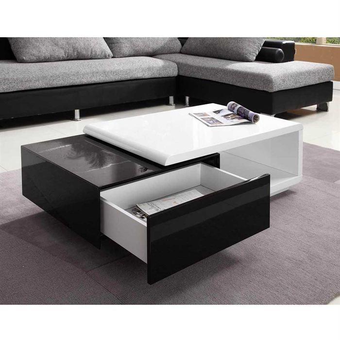 Table Salon Noire Table Basse Design Trendsetter
