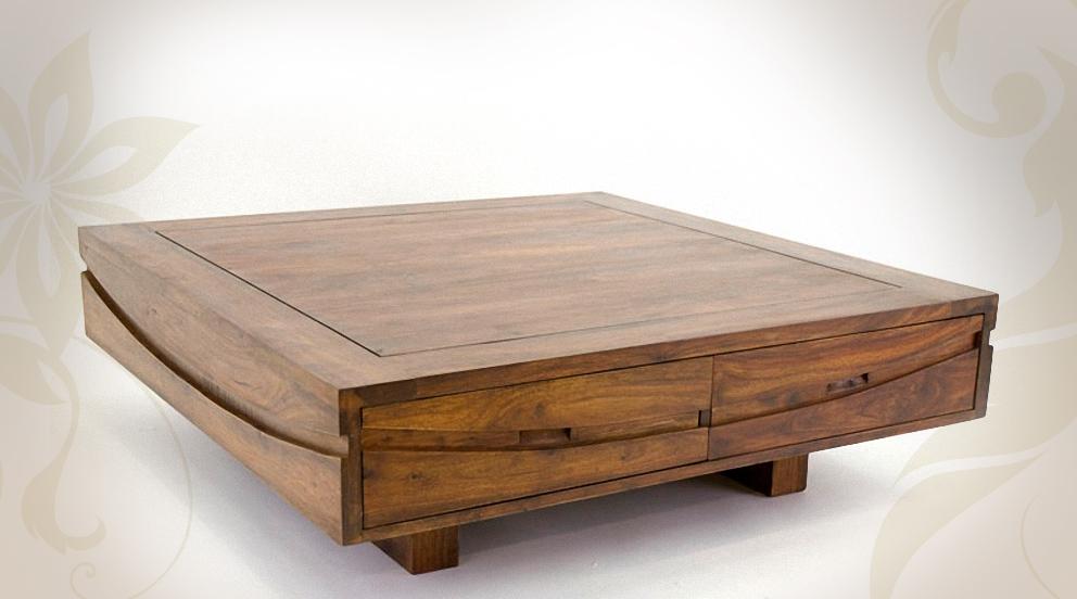 Meuble design bois massif - Table basse en bois massif pas cher ...