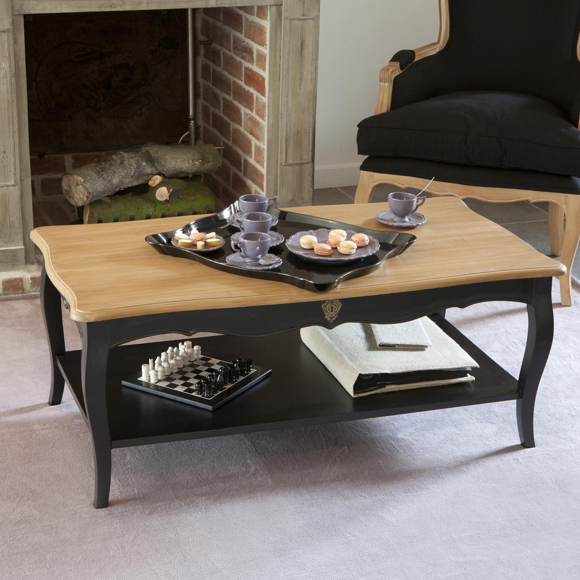 Table Basse Bois Et Noir Table Basse Loft Maison Et Salle De Bain