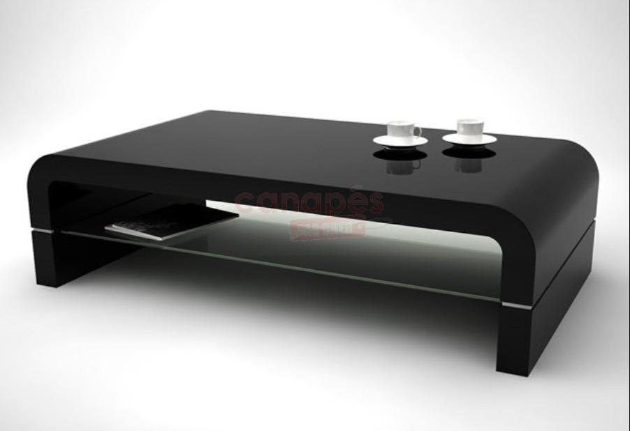 Table Basse Noir Laque Pas Cher
