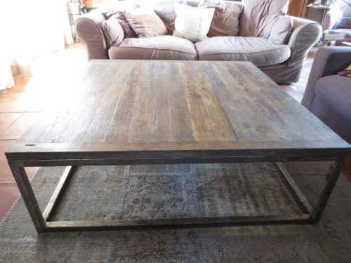 Table basse 120x120 n15 - Table basse bois ancien ...