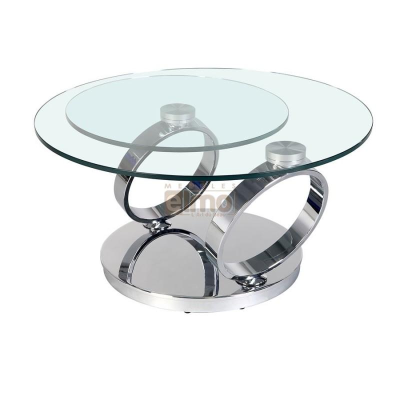 table basse ronde en verre design n15 - Pied Pour Table Basse En Verre