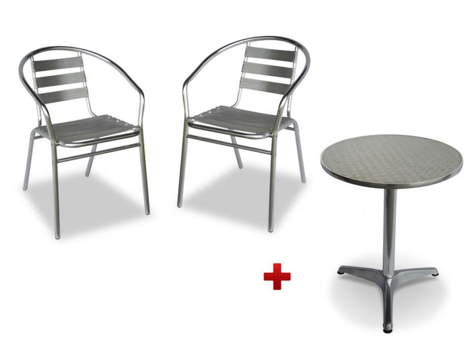 Petite table de jardin avec 2 chaises | Acp37