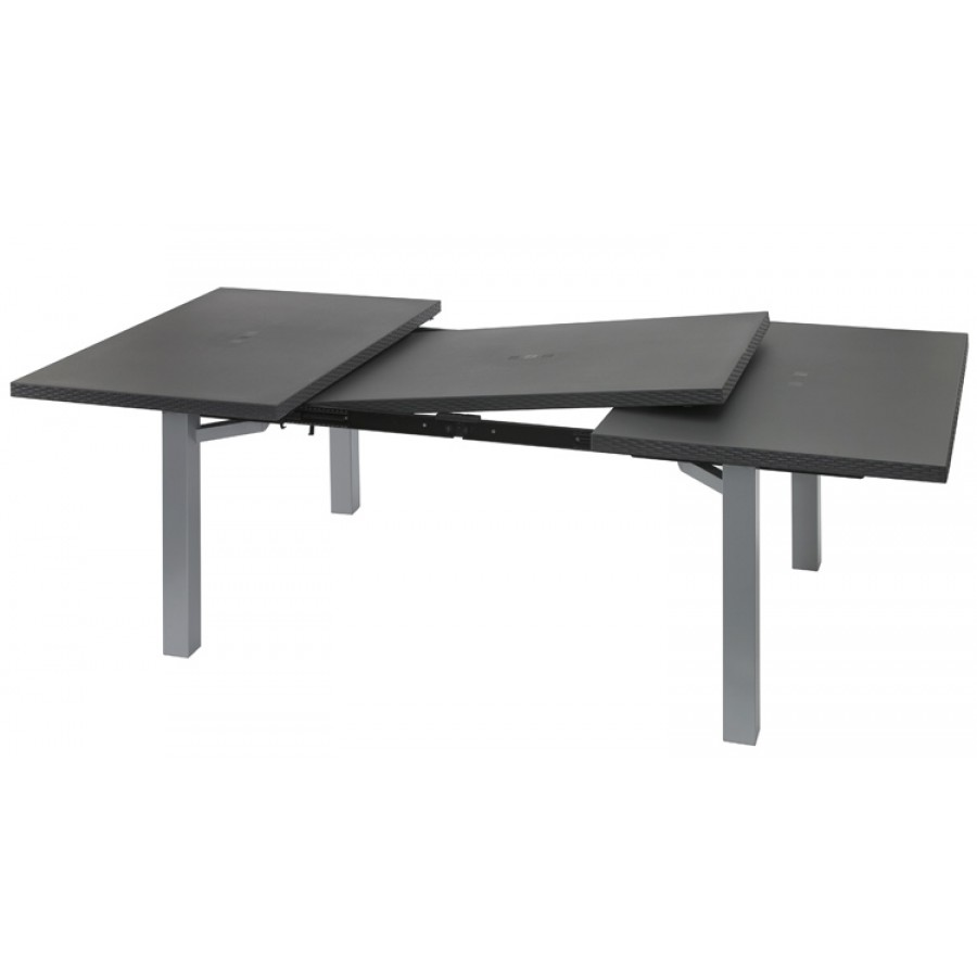 Emejing table salon de jardin plastique gallery amazing - Table jardin aluminium avec rallonge ...