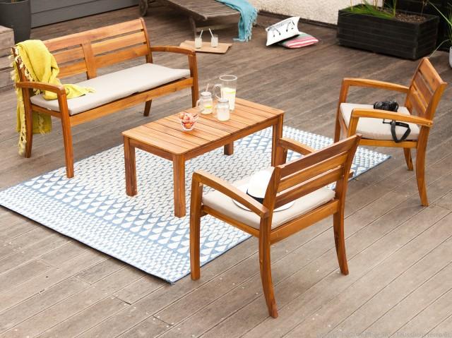 Emejing Salon De Jardin En Teck Pour Balcon Images - Amazing House ...