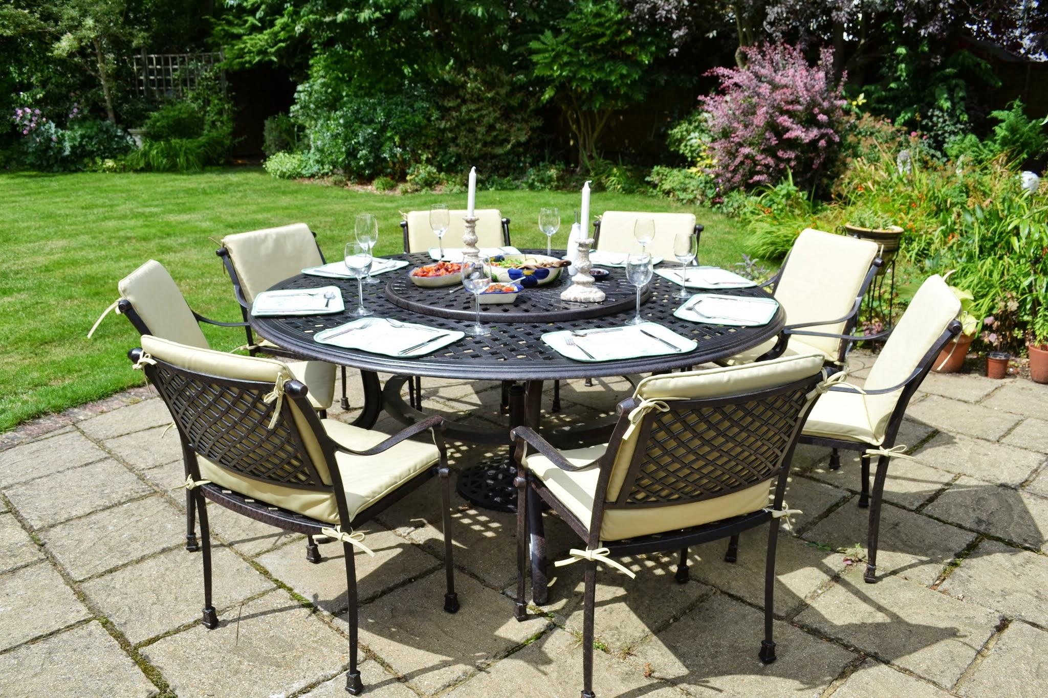 Table ronde salon de jardin ensemble table et chaise de jardin ...