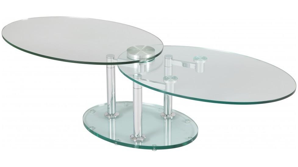 Table Basse Salon Verre Table Basse Ronde Couleur Decoration Maison