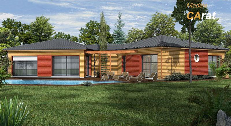Maison plain pied ossature bois prix n15 - Maison en bois plein pied ...