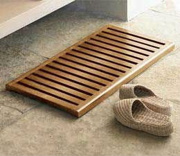 Tapis en bois salle de bain   n15