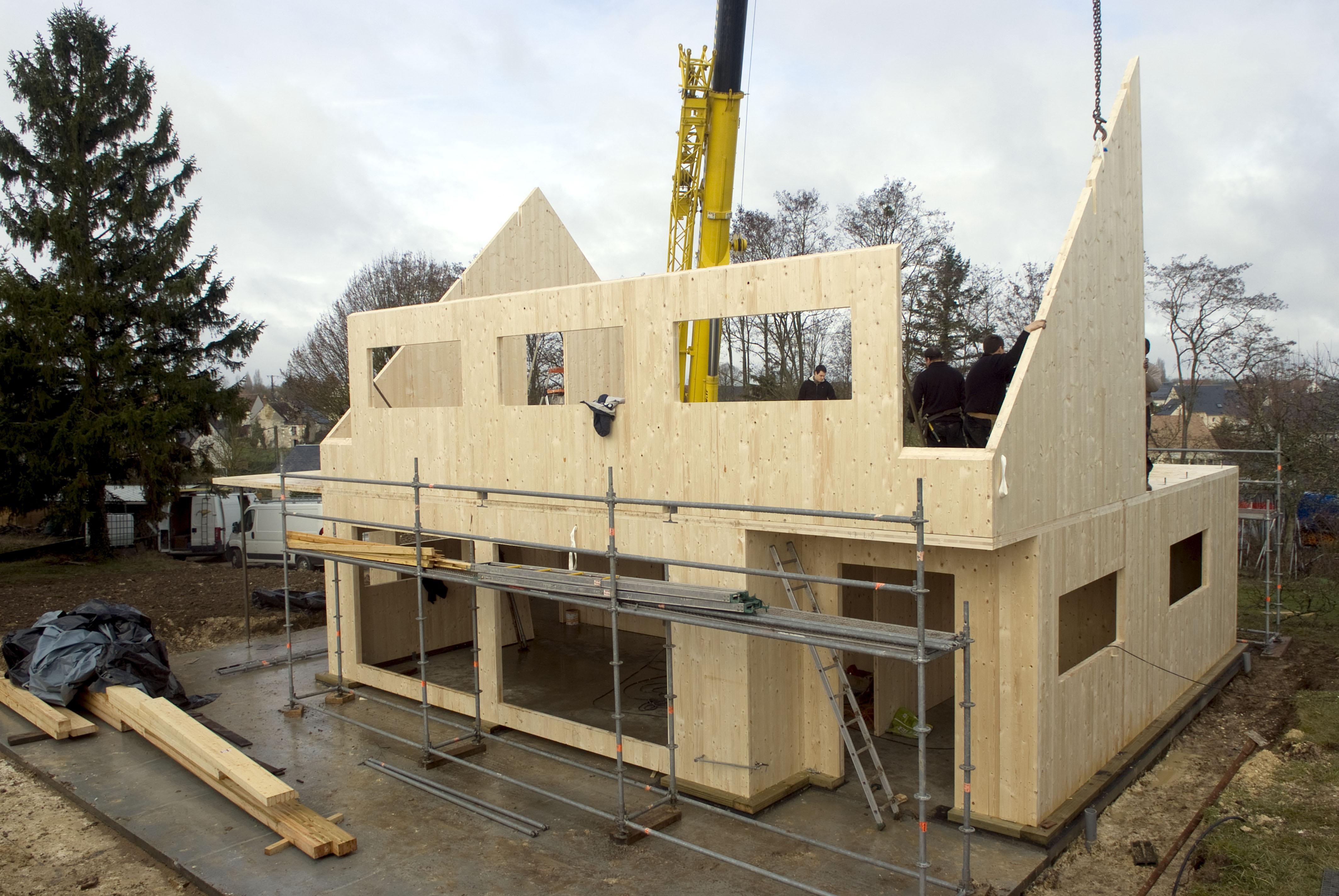 Panneaux de bois massif for Construction bois massif