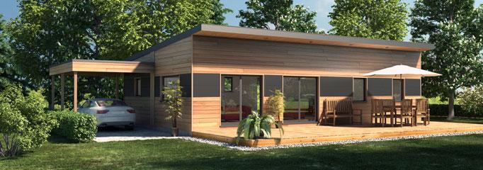 maison en bois plein pied prix n15. Black Bedroom Furniture Sets. Home Design Ideas