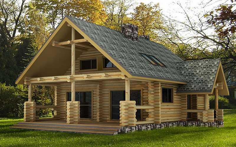 chalet en bois habitable 80m2 n15. Black Bedroom Furniture Sets. Home Design Ideas