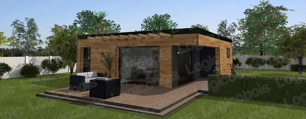 Maison cube en bois en kit n15 for Prix maison cubique contemporaine