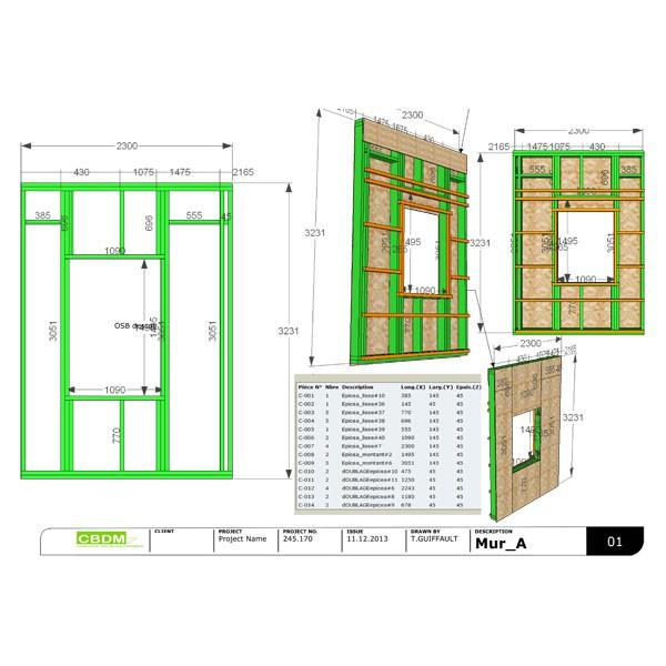 bois maison ossature bois n15. Black Bedroom Furniture Sets. Home Design Ideas