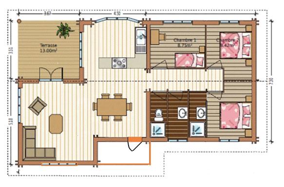 chalet habitable 100m2 n15. Black Bedroom Furniture Sets. Home Design Ideas