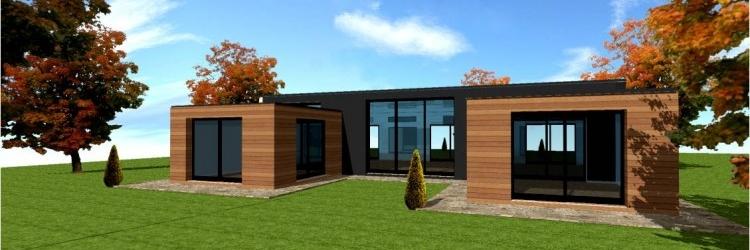 Maison en bois moderne prix n15 - Maison en bois plein pied ...