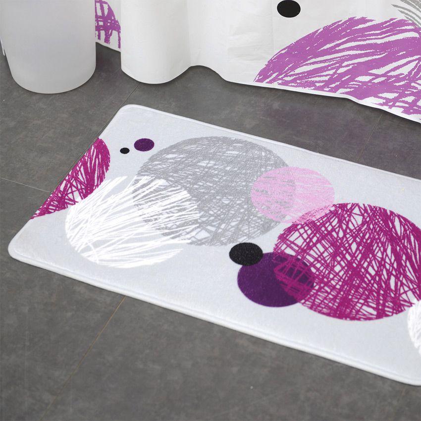 Tapis de salle de bain couleur prune n15 for Tapis bois salle de bain