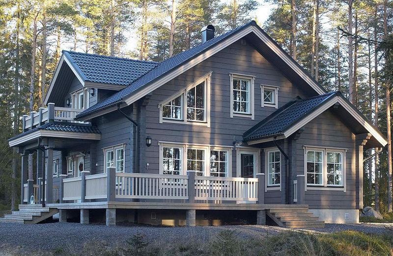 maison scandinave en bois n15. Black Bedroom Furniture Sets. Home Design Ideas